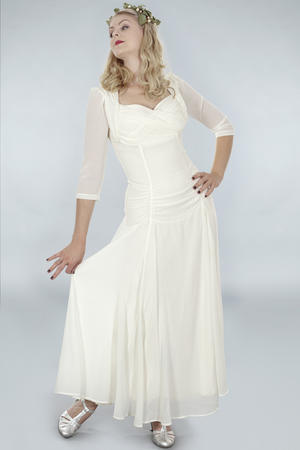 the glory of the past gown. white chiffon