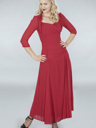 the glory of the past gown. ruby red chiffon