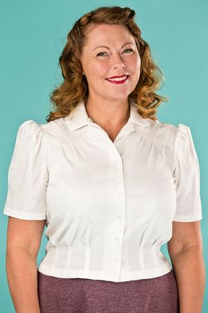 the Hollywood Boulevard blouse. cream white