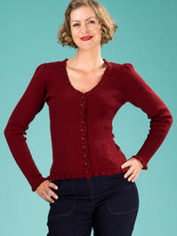 the curvylicious cardigan. wine