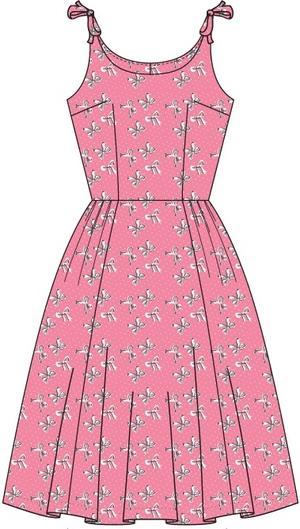 the bona fide bows beach dress. Pink bows