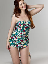 the swimmingly sun suit. candy plum