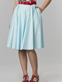 the sweetest swing skirt. mint blue
