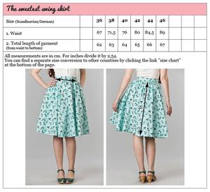 the sweetest swing skirt. vacation mint blue