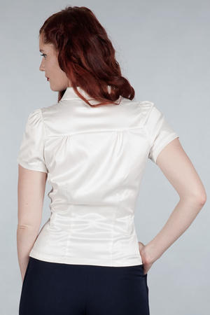 That same old favorite blouse. White satin