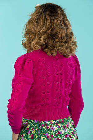 the Susie Q cardigan. pink