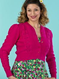 the Susie Q cardigan. pink