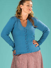 the curvylicious cardigan. winter sky