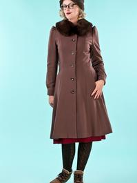 the winter wonder coat. brown
