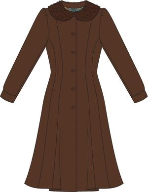 the winter wonder coat. brown
