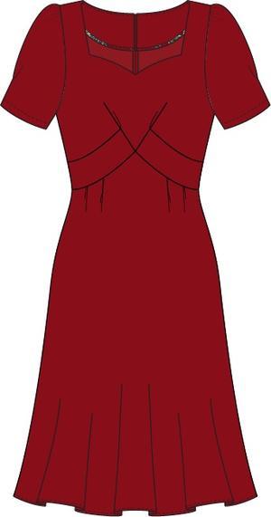 the tasteful teatime dress. wine crêpe
