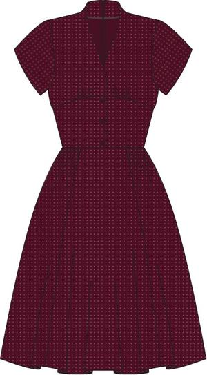the rock around the clock dress. fig jacquard
