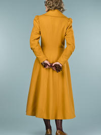 the old Hollywood princess coat. mustard pure wool