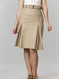 the twirly swirly skirt. sand twill