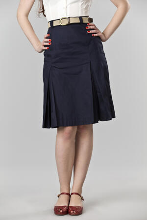 the twirly swirly skirt. navy twill