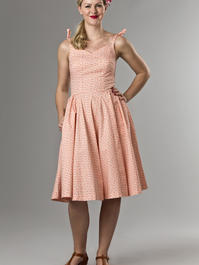 the Malibu Beach dress. peach cotton