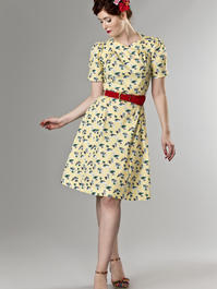 the darling darling dress. vacation yellow