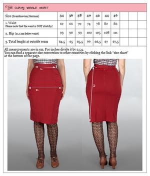 The curvy wiggle skirt. Dark navy twill