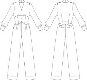 the miss fancy pants jumpsuit. black bengaline