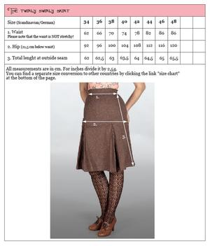 The twirly swirly skirt. Black bengaline