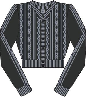 the ice skater cardigan. black