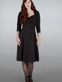 The shim sham sweetheart dress. Black bengaline