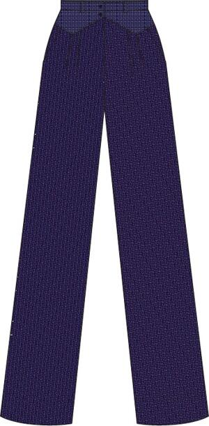 the fancy worker pants. navy salt & pepper