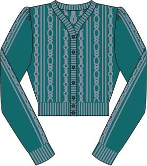 the ice skater cardigan. petroleum