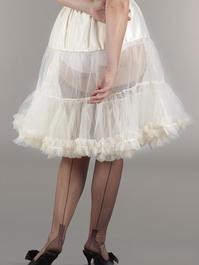 the perfect petticoat. Cream white