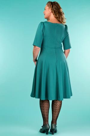 the drop dead gorgeous dress. emerald dots