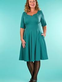 the drop dead gorgeous dress. emerald dots