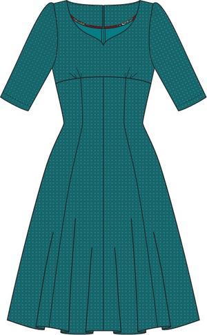 the drop dead gorgeous dress. petroleum