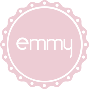 "Stickers. The emmy logo cut out. 35 mm. (1,4"")"