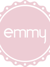 """Stickers. The emmy logo cut out. 35 mm. (1,4"""")"""