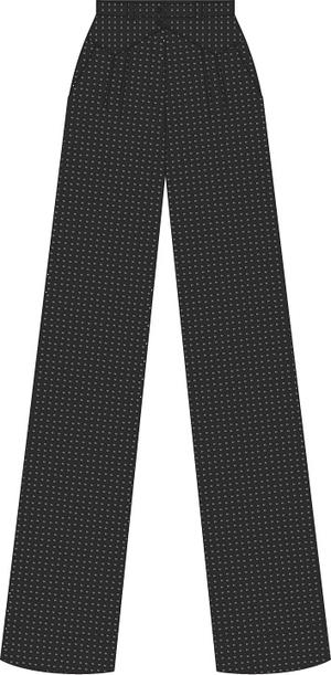 the fancy worker pants. black jacquard