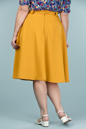 the jazzy A-line skirt. mustard weave
