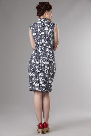 the Shanghai sweetie dress. navy flowers