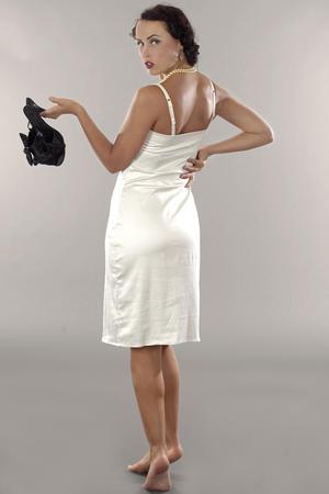 the lingering lingerie slip. cream white