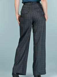 the fancy worker pants. teal plaid