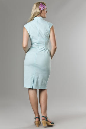 the Shanghai sweetie dress. mint blue