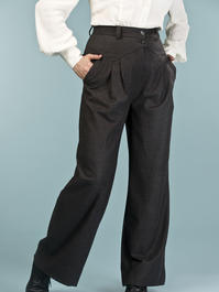 the fancy worker pants. melanged black combed twill