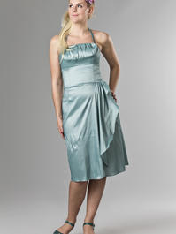 the Honolulu honey dress. shiny mint blue