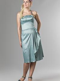 the Honolulu honey dress. shiny mint blue