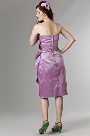 the Honolulu honey dress. shiny lavender
