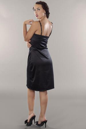 the lingering lingerie slip. black