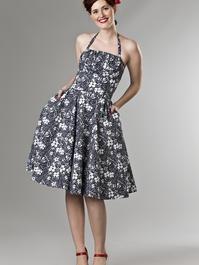 the Honolulu swing dress. navy flowers