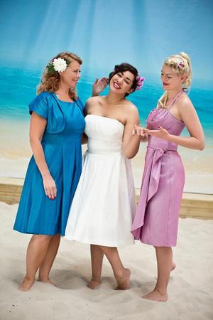 the Honolulu swing dress. shiny white