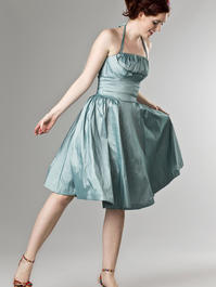 the Honolulu swing dress. shiny mint blue