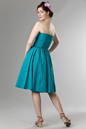 the Honolulu swing dress. turquoise