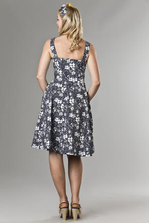 the bombshell bolero and dress duo. navy flowers